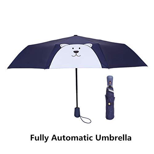 Gjywhf parasole ombrelli antivento antiappannanti automatici anti-uv della pioggia per le signore delle donne