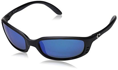 Costa Del Mar Sole BR11OGGLP Herren Schwarz Rahmen Grün 580 Objektiv Oval Polarisierte Sonnenbrille