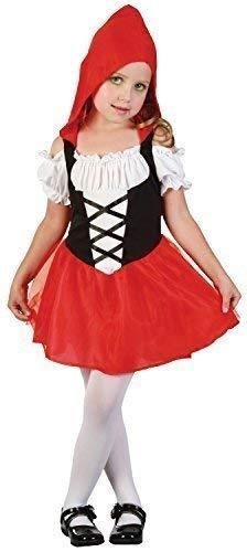Fancy Me Kleinkind Mädchen Kleine Rote Bonbon Märchen Welttag des Buches-Tage-Woche Karneval Halloween Kostüm Kleid Outfit 2-3 Jahre (Beste Welttag Des Buches Kostüme)