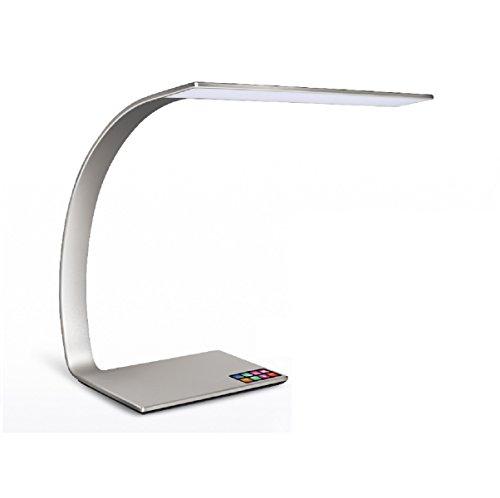 arteLuna LED Tischleuchte RAY Silber Aluminium 6mm flach 350x250x343mm 14W dimmbar und Lichtfarbe...