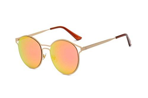 VENMO Moda Unisex Aviator Espejo Lente Viaje Gafas de sol (Rosa 1)