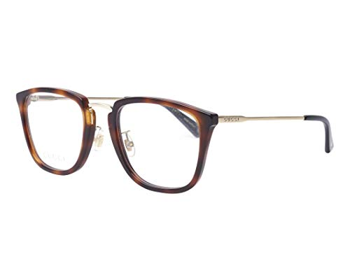 Gucci Brille (GG-0323-O 003) Acetate Kunststoff - Metall havana - hell gold