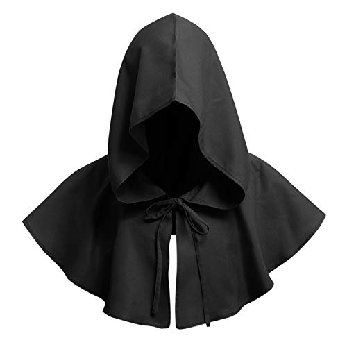 Grim Reaper Hooded Robe Kostüm - De feuilles Erwachsene Kapuzenumhang Halloween Kostüm