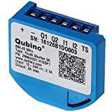 Qubino ZMNHND1 1D Unterputz-Relais (12,3 kW), schwarz, blau - Unterputz 1 Licht