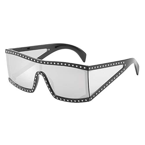WEIMEITE Beliebte Spiegel Beschichtung Goggle Sonnenbrille Frauen Cool Square Shades Männer UV400 Punk Hip Hop Sonnenbrille C3