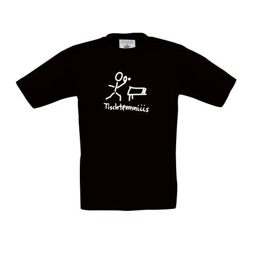 tischtennis , Kinder T-Shirt, Größe 134 - 146, schwarz