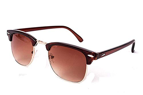 WERERT Sportbrille Sonnenbrillen Vintage Semi-Rimless Sunglasses Women/Men Polarized Uv400 Classic Retro Sun Glasses