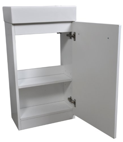 Cabinetsforbathrooms Gloss White Finish 450Mm Cloakroom Vanity Unit With Basin Sink