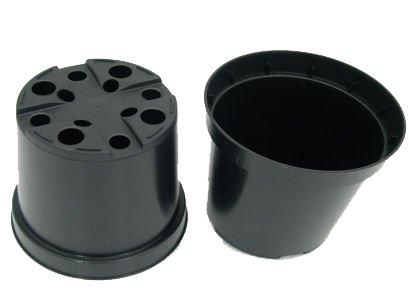 De 5 Pots de fleurs ronds en plastique noir (a405 Lot de 10)