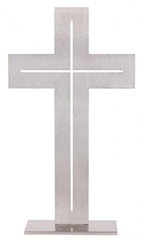 MaMeMi Stehkreuz: Edelstahl 'Kreuz' 19cm