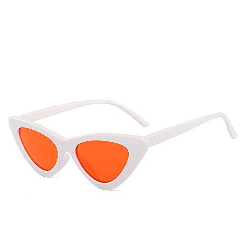 xuexue Sonnenbrille Dreieckig Katzenauge Europa Trend Persönlichkeit Bonbonfarbe Ocean Film Sonnenbrille Retro Persönlichkeit Schatten Brille,09