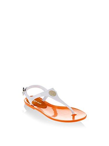 Armani Jeans Damen Sandalia Charol Armani Sandale, orange, 40 EU