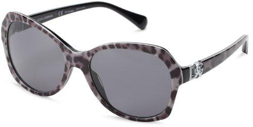 Dolce & Gabbana Für Frau 4163p Leopard Grey / Grey Polarized Kunststoffgestell Sonnenbrillen (Gabbana Dolce Leopard)