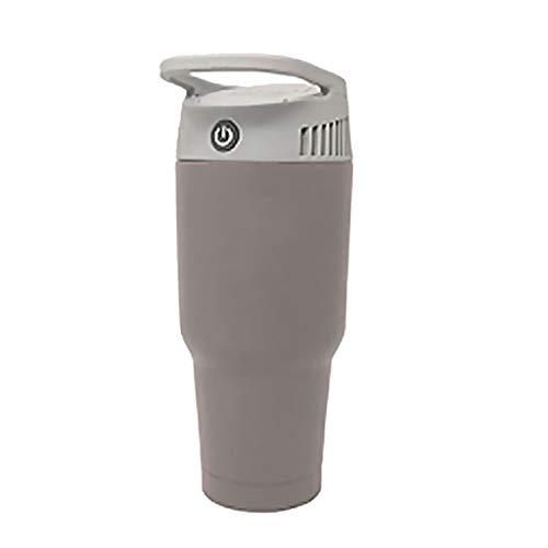MA87 Kleine Mini-Klimagerät für persönliche Kühl- und Heizsystem, Wasserbecher, kalte und warme Luft, Doppelverwendung 12x11x26cm grau - X 12 Luft