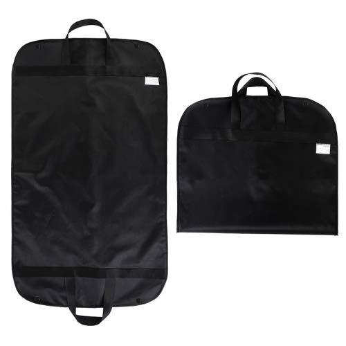 SPARKSOR Kleidersack,Atmungsaktiver Reise Kleidersack mit Tragegriffen und Druckknopfverschlüssen / Stabiler hochwertiger Anzugsack - schwarz - 60 cm * 100 cm