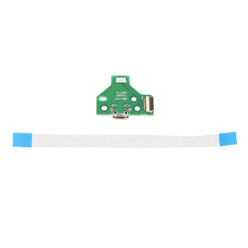 MagiDeal USB Lade Port Karte mit 12 Pin Kabel JDS-011 für SONY PS4 Controller (Skill Ersatzteile)