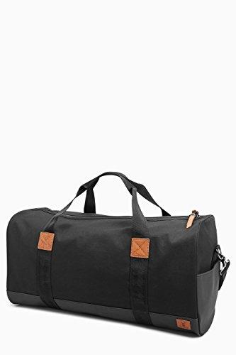 next Herren Duffle-Tasche aus Segeltuch Schwarz