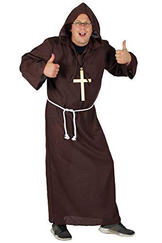 Kostüm für Herren braun Mönche Tunika Kutte Kirche Größe XXXXL ()