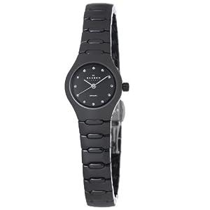 Reloj de mujer Skagen 816XSBXC1 de cuarzo, correa de cerámica color negro de Skagen