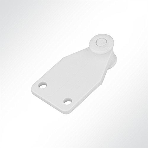 LYSEL Laufrolle Führungsrollen Laufwagen Nirosta für Laufschiene 25x19mm Schiebetor (10 Stück)