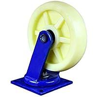 Zixin Súper Rueda de Nylon Resistente, más la Rueda de la Rueda Industrial Lanzador móvil (Color : F)