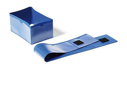 Durable 172407 Palettenfußbanderole (145 x 75 mm, mit Klettverschluss, 4-seitig beschriftbar) Packung à 50 Stück dunkelblau
