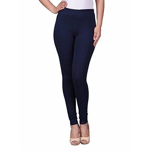 Trasa Cotton Lycra Women's / Girls Churidar Leggings - Size :- XXXL-Large, Navy Blue (Brand Outlet)  available at amazon for Rs.339