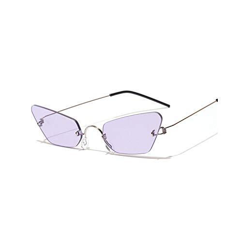 Sportbrillen, Angeln Golfbrille,Vintage Cat Eye Sunglasses Women Luxury Brand Designer Fashion Rimless Sun Glasses Male Female Mirror Eyeglasses UV400 as picture Black