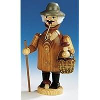 Incense la figurina Seiffen di incenso della raccoglitrice 19 cm del fungo dell'uomo (Piega Funghi)