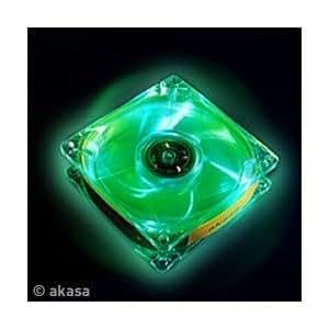 Akasa AK-170CG-4GNS 8cm Crystal Green LED fan