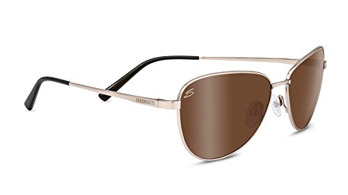 Serengeti Eyewear Sonnenbrille Gloria, Soft Satin Gold/Polarized Drivers Gold, 8411