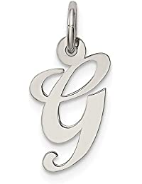Sonia Jewels Colgante de Plata de Ley 925 Maciza con Letra G de Letra Inicial de