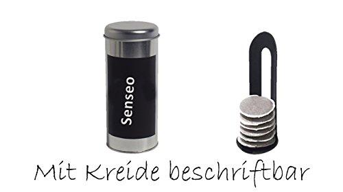Kaffeepaddose 18 Pads - Neu beschriftbar mit Kreide + Padheber