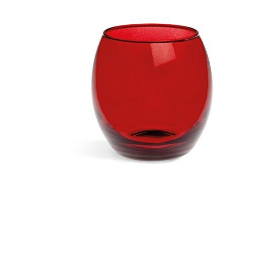 Excelsa corinto set bicchieri, vetro, rosso, 6 unità