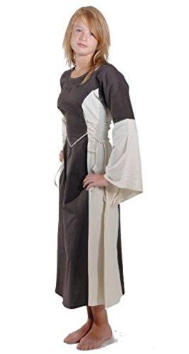 Bäres Mittelalter Kleider kleine Maid - Kinder Marktkleid - Kinder Catriona für 9-11 jährige/natur (Halloween Für Jährigen 11 Kostüme)