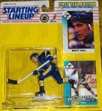 1993 - Kenner / NHL - Starting Lineup - Brett Hull / St. Louis Blues Figure - First Year Edition - w/ 2 Trading Cards - MOC - Limited Edition - Collectible (Sammlerstücke Sport-card)