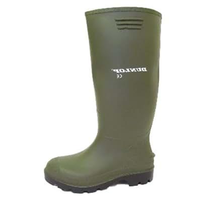 Dunlop bottes en caoutchouc vertes pour hommes vert - Botte caoutchouc homme ...