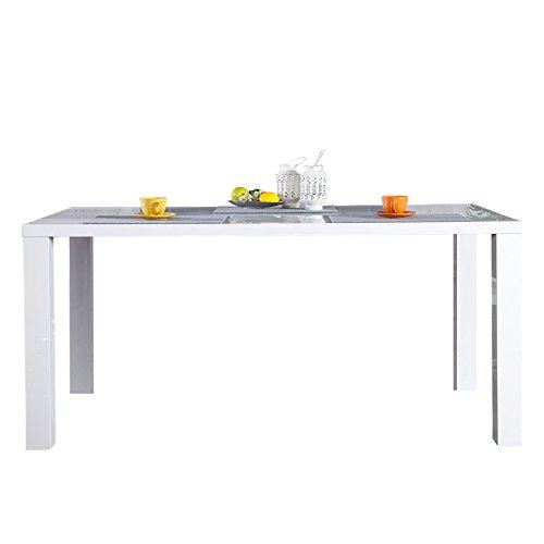Designer Esstisch LUCENTE weiss hochglanz 140cm Küchentisch Esstisch Tische weiß
