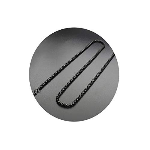 Epinki Edelstahl 4MM Halskette für Herren &