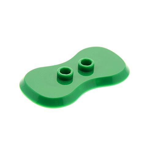 Bausteine gebraucht 1 x Lego System Bau Platte grün 2x4 Fliese gebogene Seiten mit 2 Noppen Rasen Base Figuren Stand Halterung 88646