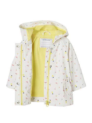 Vertbaudet Mädchen Baby-Regenjacke mit Kapuze, Bedruckt weiß Bedruckt 74