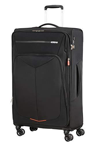 American tourister summerfunk bagaglio a mano, spinner l espandibile (79 cm - 119l), nero (black)