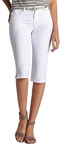 Stil & Co-woman-stretch Gürtel (Lee Damen-Capri-Jeans, modern, mit Gürtel - Weiß - 50)