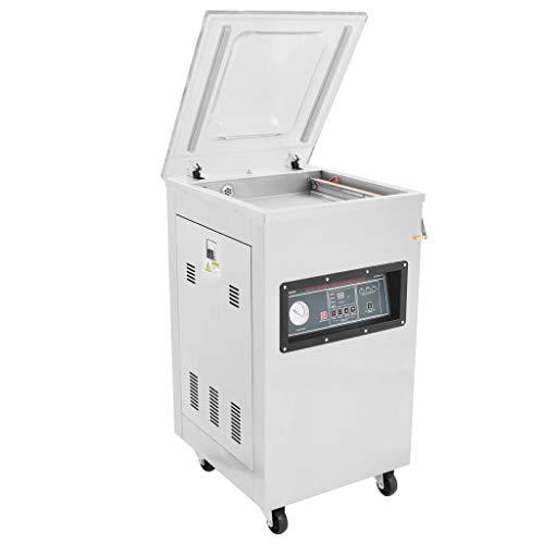 nelle Vakuumverpackungsmaschine Stehend Automatisch Lebensmittel Vakuumierer Vakuumiergerät 750 W Edelstahl ()