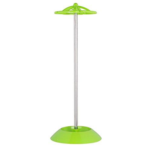 DDGOD Frei stehende Regenschirm Halterung Rack,Schirmständer Kurze Long Stöcke sonnenschirme Edelstahl Kunststoff Regenschirmständer Sun Stil-grün 23x23x55cm(9x9x22) (Frei Stehende Box)