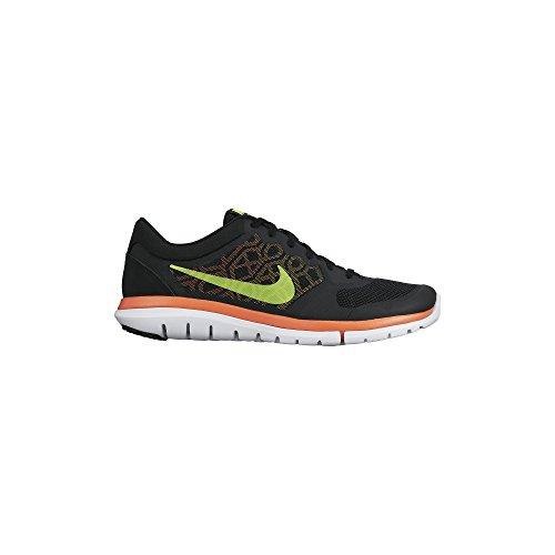 Nike Flex Run 2015, Chaussures de Running Compétition Homme Black/Laser Orange/Volt