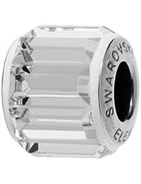 Großlochperlen / European Beads / Glasperlen von Swarovski Elements 'BeCharmed Pave' 10.5mm (Crystal, Edelstahl), 1 Stück
