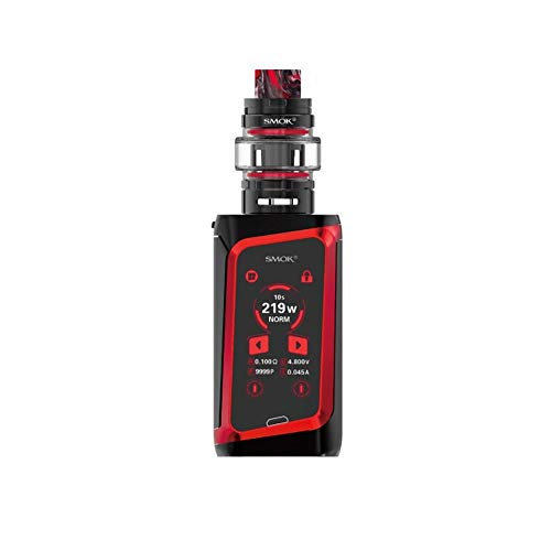 SMOK Morph 219 Kit 219W TF Vaporizer 6ML Atomizer Electronic Cigarette Touch Screen Box Mod Vape  kein Nikotin und kein Rauchöl. (Black Red)