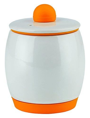 gourmetmaxx 09900 Mikrowellen-Rühreikocher für bis zu 4 Eier | spülmaschinengeeignet | Eierkocher, weiß