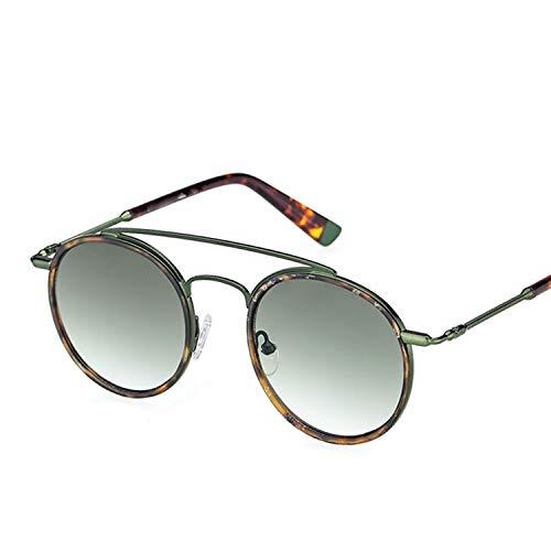 cool show Sonnenbrille für Damen und Herren, Retro-Stil, rund, Metallrahmen Gr. Einheitsgröße, grün